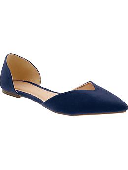 Women's Sueded D'Orsay Flats - Navy
