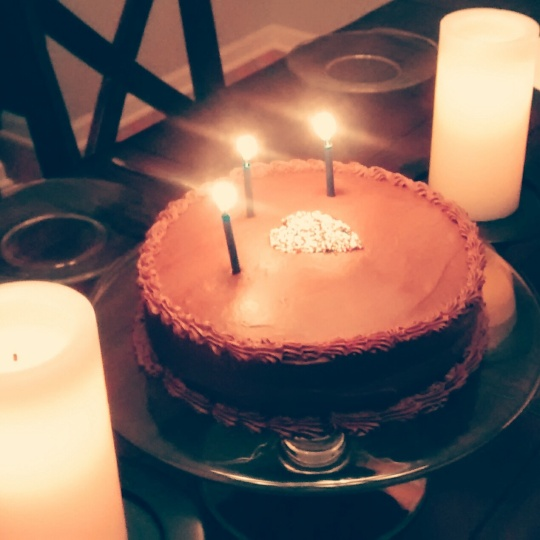 Chocolate Frosting Candles
