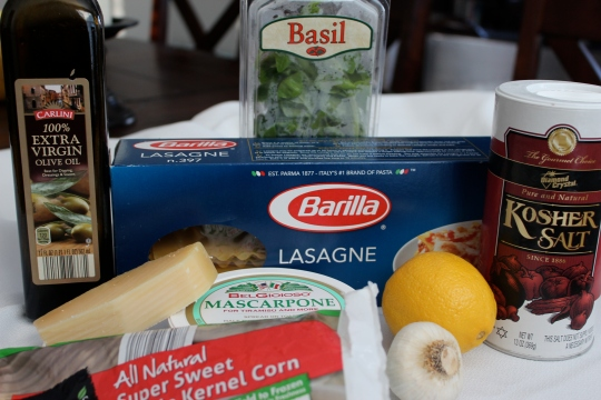 Corn Lasagna Ingredients