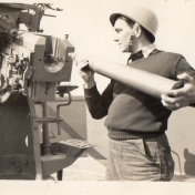 Loading a 36 inch shell.