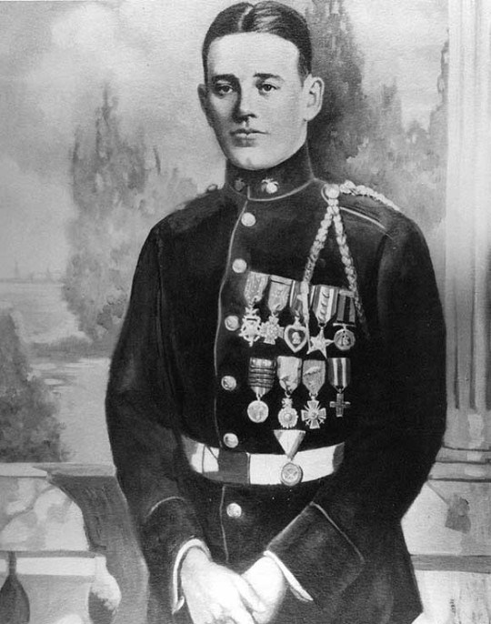 John J. Kelly- The most heavily decorated war hero of WWI.  The Army Medal of Honor is on the left and the Navy Medal of Honor is next to it, also called the Tiffany Cross.